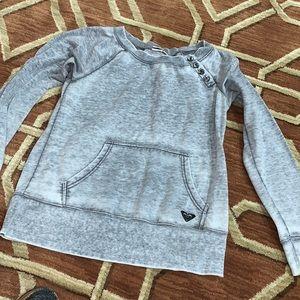 EUC Roxy XL distressed sweatshirt